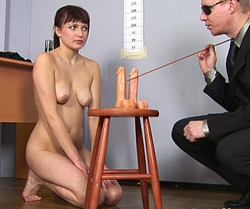 Humiliation office interview naked